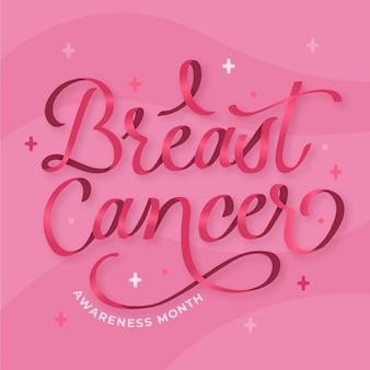 Diseño de letras del mes de concientización sobre el cáncer
