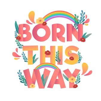 Diseño de letras positivas del día del orgullo