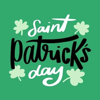 Diseño de letras para st. día de san patricio