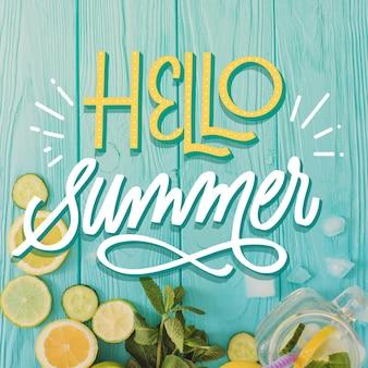Diseño de letras de verano