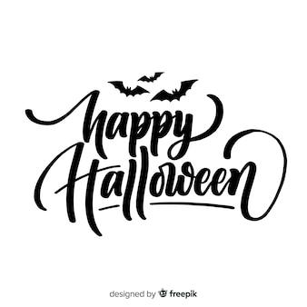 Diseño de lettering de happy halloween