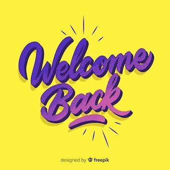 Diseño de lettering de welcome
