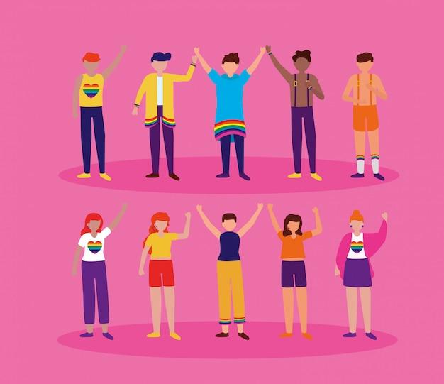 El diseño lgbtq de la comunidad queer