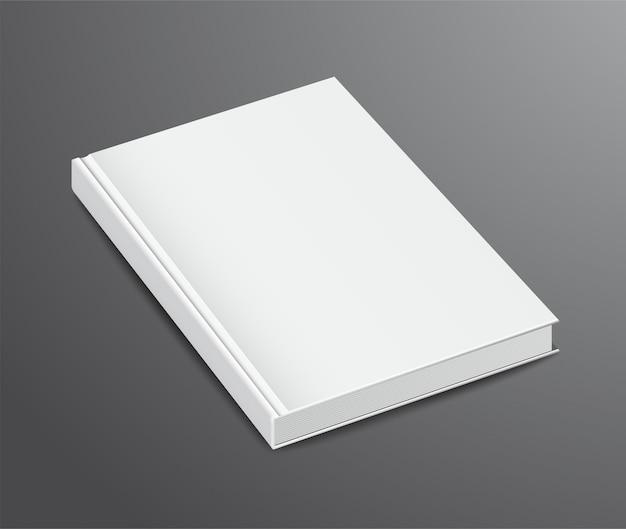Diseño de libro en blanco, tapa dura
