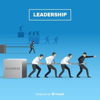 Diseño de liderazgo en estilo flat