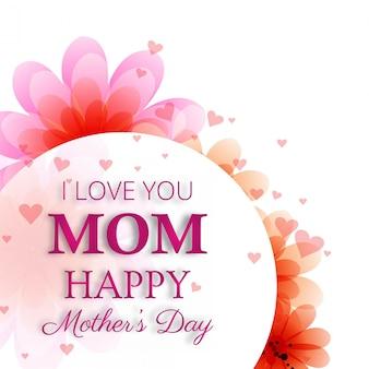 Diseño lindo para el día de la madre