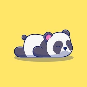 Diseño lindo de la ilustración de la panda