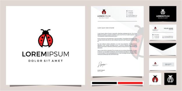 Diseño lindo del logotipo de ladybug