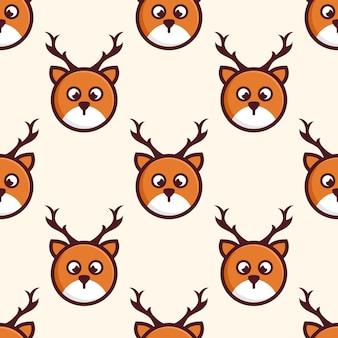 Diseño lindo del patrón de los ciervos de la cabeza