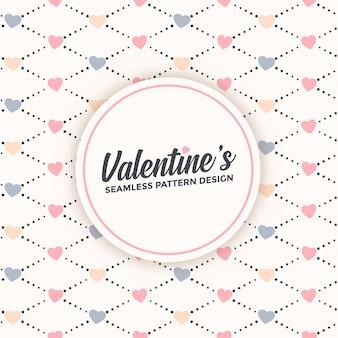 Diseño lindo patrón sin costuras para el día de san valentín