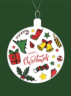 Diseño lindo de la tarjeta de navidad