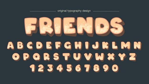Diseño lindo de la tipografía de la burbuja linda