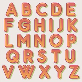Diseño lindo tipografía burbuja