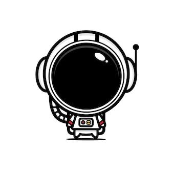 Diseño de lindos personajes astronautas