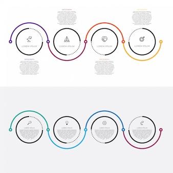 Diseño de línea delgada infografía de negocios