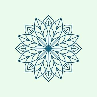 Diseño de línea de mandala minimalista moderno