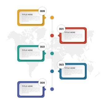 Diseño de línea de tiempo de infografía empresarial