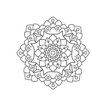 Diseño lineal de mandala de vector