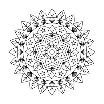 Diseño lineal de vector indio mandala