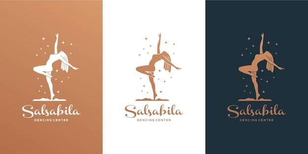 Diseño del logo de la academia del centro de baile