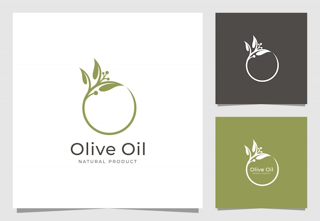 Diseño de logo de aceite de oliva