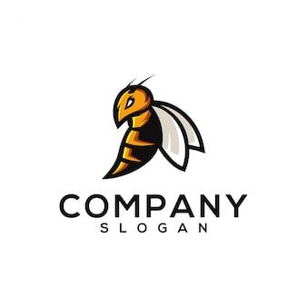Diseño de logo de avispa