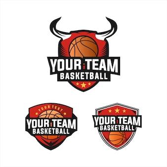 Diseño de logo de baloncesto deportivo.