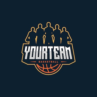 Diseño de logo de baloncesto