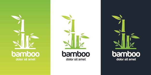 Diseño de logo de bambú