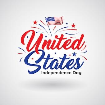 Diseño de logo banner del 4 de julio.
