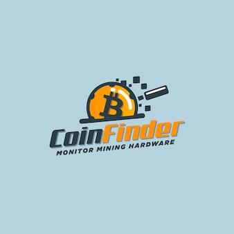 Diseño de logo de bitcoin