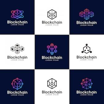 Diseño de logo blockchain