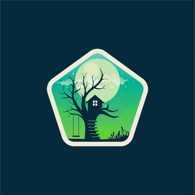 Diseño del logo de la casa del árbol