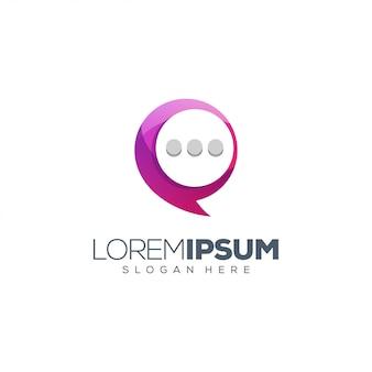 Diseño de logo de chat
