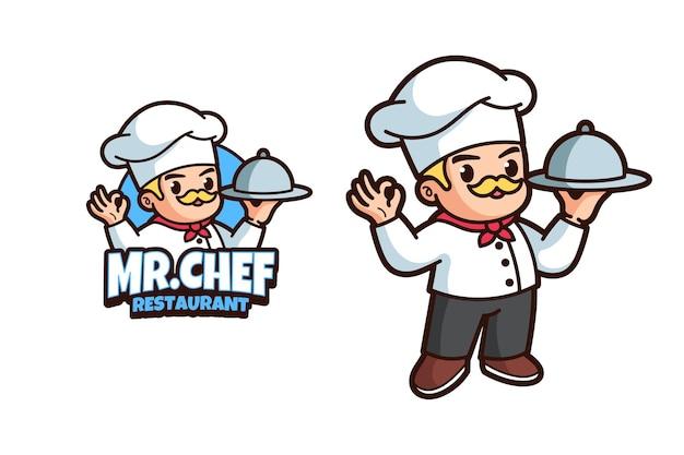 Diseño de logo de chef