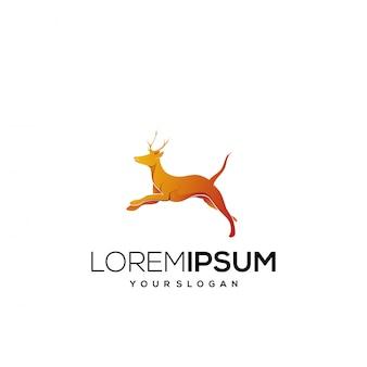 Diseño de logo de ciervo