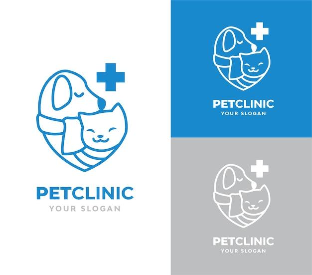Diseño de logo de clínica de mascotas