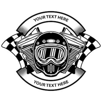 Diseño del logo del club de motos