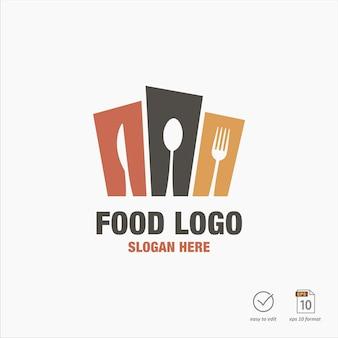 Diseño de logo de comida creativa