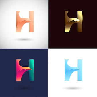 Diseño de logo de creative letter h