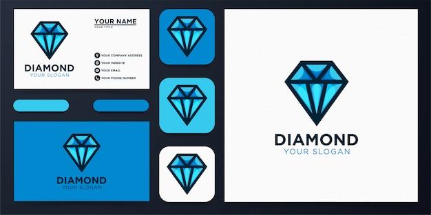 Diseño de logo de diamante