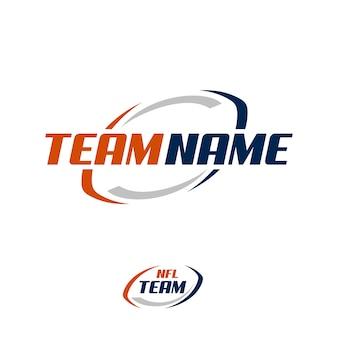 Diseño del logo del equipo americano de fútbol americano.