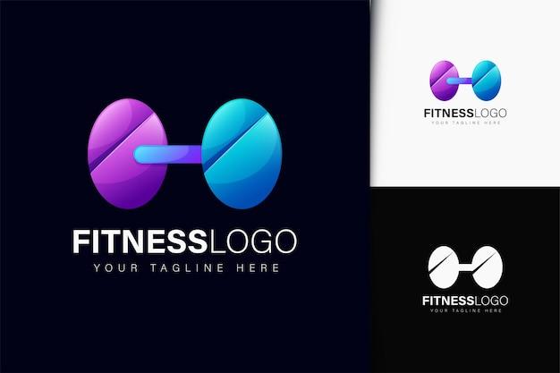 Diseño de logo fitness con degradado.
