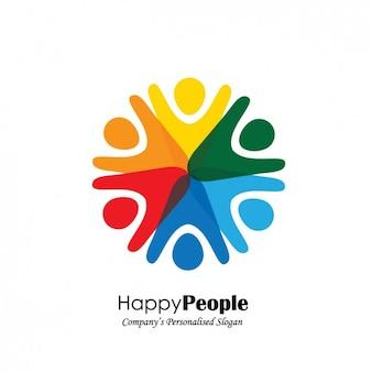 Diseño de logo con forma de personas