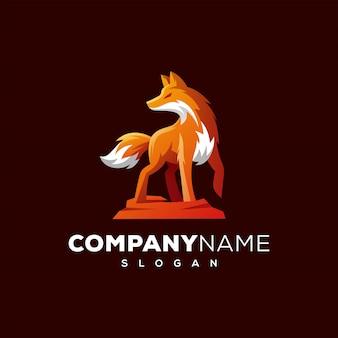 Diseño de logo de fox listo para usar