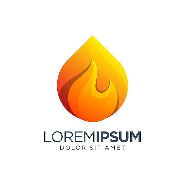 Diseño de logo de fuego
