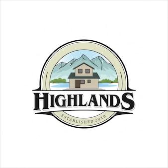 Diseño de logo de highlands