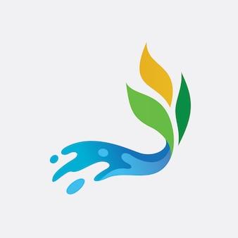 Diseño de logo de hojas