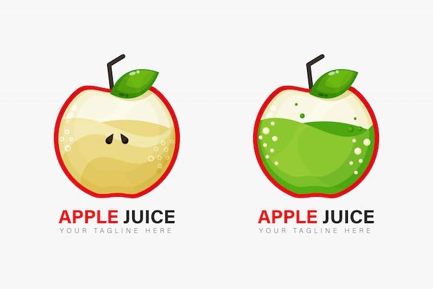 Diseño de logo de jugo de manzana