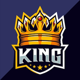 Diseño de logo de king crown esport